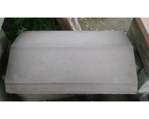 Крышки бетонные на забор  650х420х110