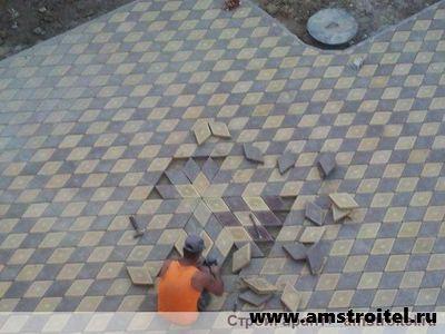фото плитка тротуарная во дворе