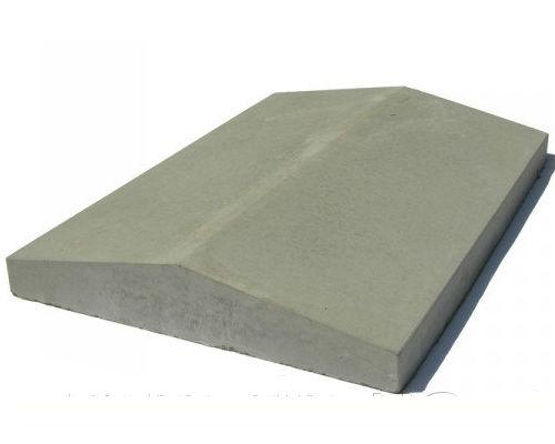 Крышки бетонные на забор 390х350