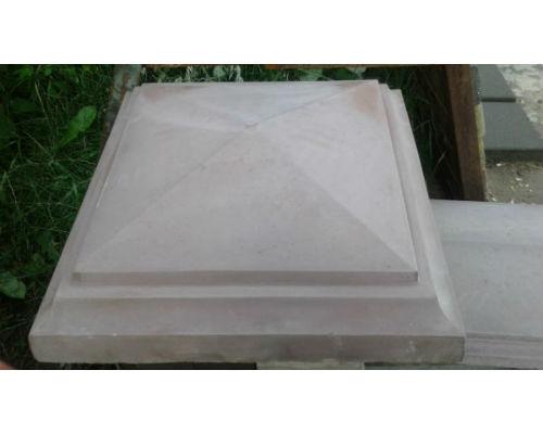 Крышки бетонные на столбы 580х580х140